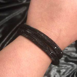 Swarovski double wrap stardust bracelet